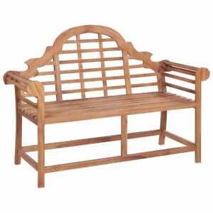 vidaXL-Solid-Teak-Garden-Bench-Outdoor-Marlboro-Furniture-Park-Seat-Chair
