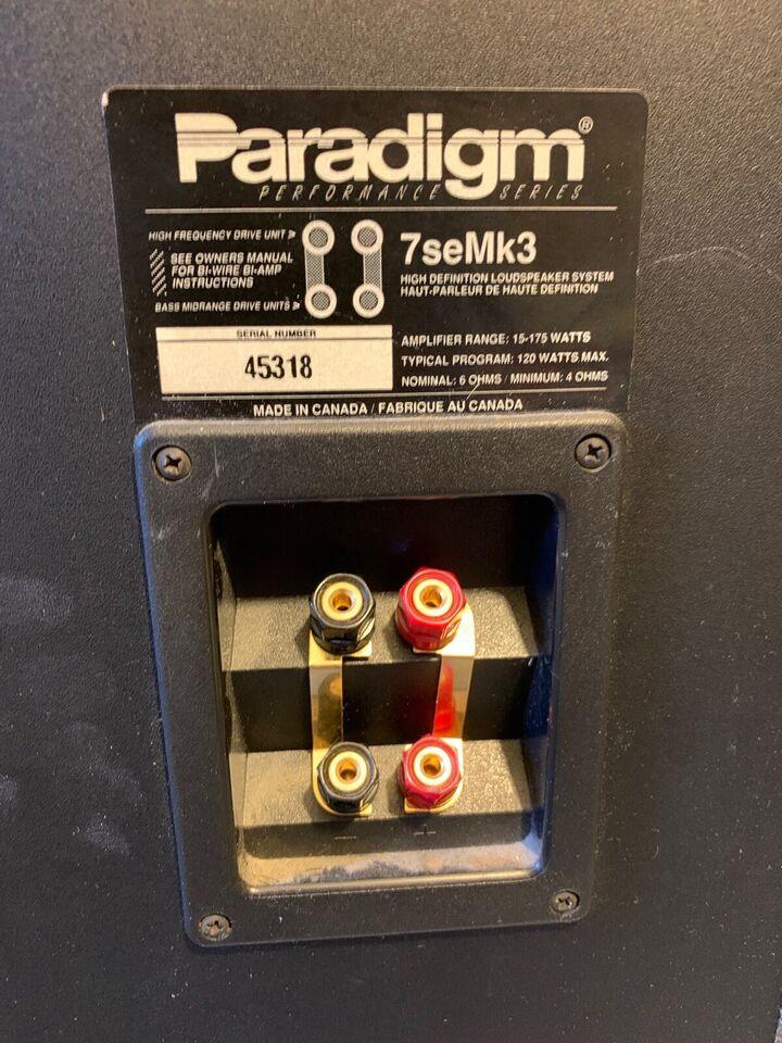 Højttaler, Paradigm, 7seMk3