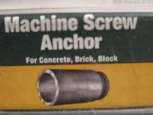 31 5//16-18 MACHINE SCREW LEAD MASONRY CONCRETE SOLID WALL WEDGE ANCHOR FASTENER