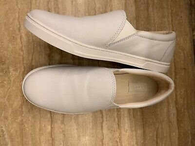 COLOR LEATHER SLIP-ONS COMFORT SHOES
