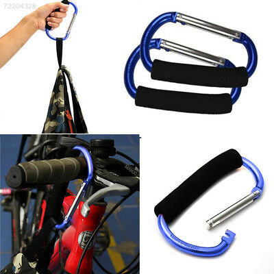 Pram Pushchair Shopping Bag Hook Carabiner Large D Ring Buggy Mummy Clip/_ VX