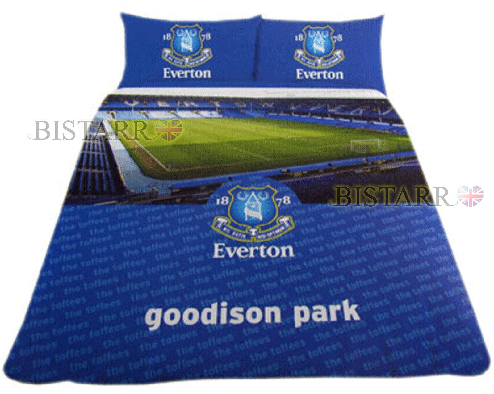 Egreenon Double Duvet Cover Bed Set Goodison Park Stadium Football Bedding New
