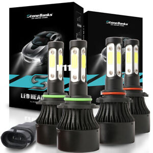 Combo-9005-9006-4-Side-LED-Headlight-Kit-2800W-280000LM-High-Low-Beam-Bulb-6000K