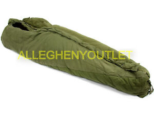 USGI Military +10° Intermediate Cold Weather ICW MUMMY SLEEPING BAG Green Fair