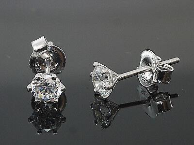 333 Gold Ohrstecker  6,5  mm  26 Zirkonia Steine   1 Paar
