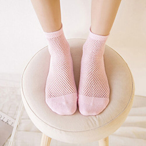High Quality Women Mesh Lace Fish Net Short Sock Ruffle Fishnet Ankle High Socks
