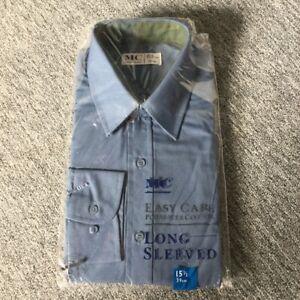 Men-s-Vintage-New-Old-Stock-MC-Long-Sleeve-Easy-Care-Shirt-Dusky-Blue-15