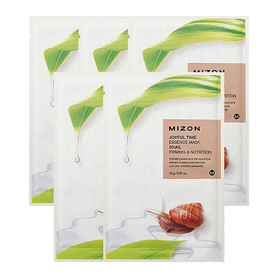 [MIZON] Joyful Time Essence Mask 23g * 5pcs / Contains snail mucus filtrate