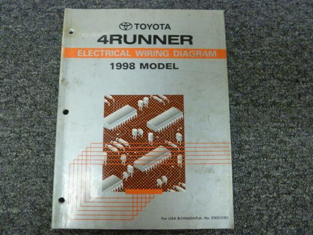 1998 Toyota 4runner Suv Electrical Wiring Diagram Manual