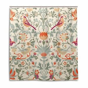 1 Pc Waterproof Flowery-Anchor Shower Curtain for Home and Bathroom