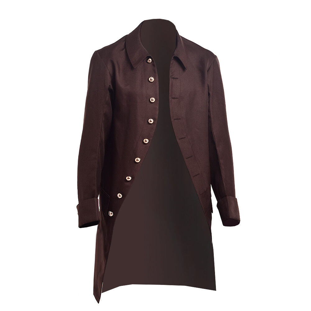 Mens Gothic Steampunk Coat Military Victorian  Trench Vintage Coat