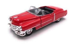 Maquette-de-Voiture-Cadillac-Eldorado-Ancienne-Cabriolet-Rouge-Auto-Echelle-1-3