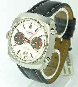 Vintage-Oriosa-Automatic-Chronograph-Cal-12-Buren-Stahl-NOS-condition-70er-Jahre