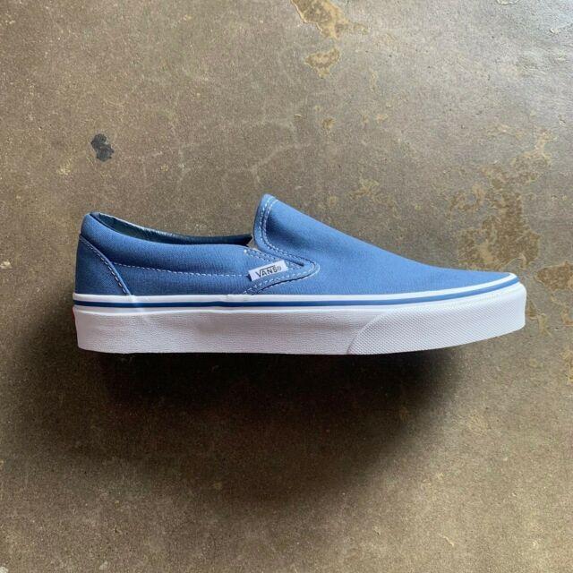 22d28bb379 VANS Classic Slip on Shoes Canvas Navy Blue White Men SNEAKERS VN ...