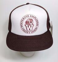 Vintage 1980s Wolverine Employees Credit Union Snapback Hat Sample