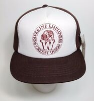 Vintage 1980s Wolverine Employees Credit Union Snapback Hat Sample