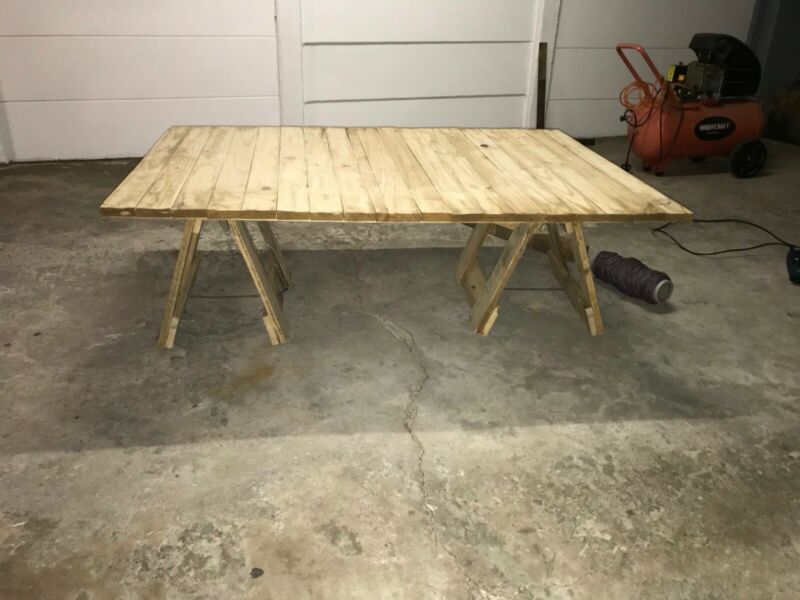 Coffee table with trestles