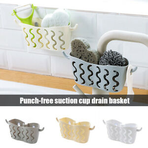 Kitchen-Bathroom-Sponge-Sink-Tidy-Holder-Storage-Rack-Suction-Strainer-Organizer