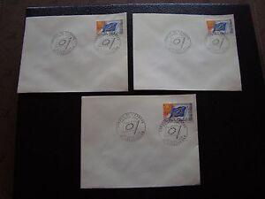 FRANCE-3-enveloppes-1er-jour-22-3-1969-conseil-de-l-europe-cy93-french