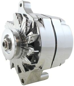 Details about One-Wire Alternator 140 Amps Chrome 12V Ford 1G Hybrid with  GM Style Case New!