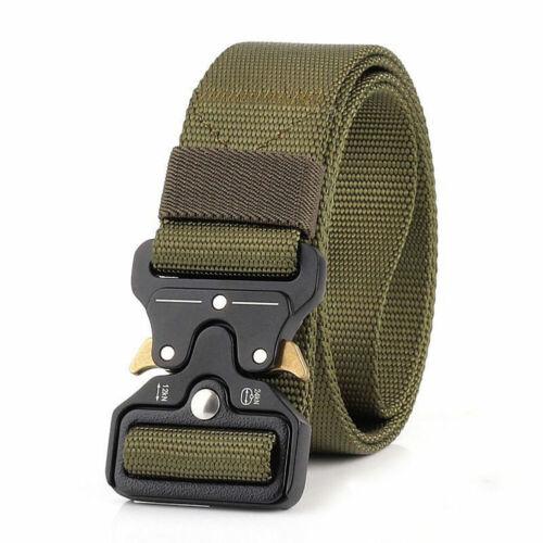 De Uomo Esercito Militare Military Cintura tattico delle CINTURA BELT FIBBIA NYLON