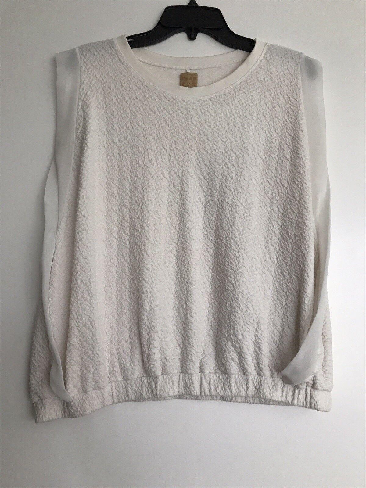 Zara White Textured Top - Size M