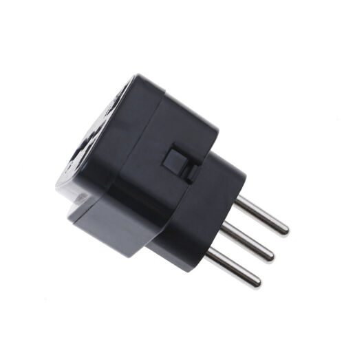 Universal UK//US//EU//AU to italy 3pin travel plug converter plug adapter conHFTE