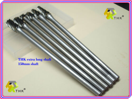 10MM OVAL THK Tungsten Carbide Rotary Bits Drill Burrs 6MM Shank 170MM - E10