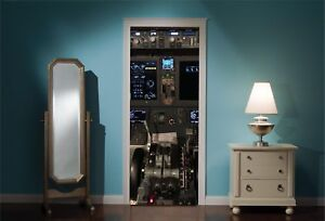 Door-Mural-737-Max-Airplane-Cockpit-View-Wall-Stickers-Decal-Wallpaper-148