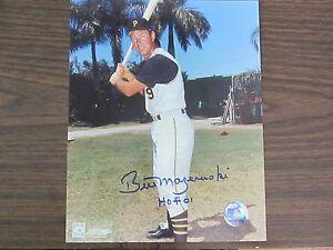 Bill Mazeroski Autograph / Signed 8 X 10 Photo Pittsburgh Pirates HOF 01