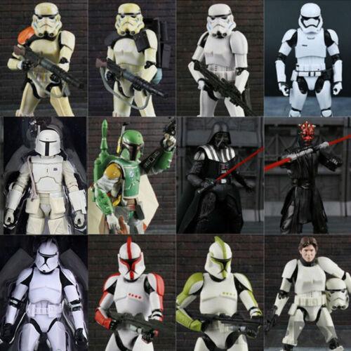 6 Black Series Star Wars Action Figure Darth Vader Boba Fett Stormtrooper