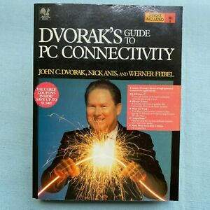 New-Sealed-Dvorak-s-Guide-to-PC-Connectivity-Book-Software-5-25-Disk-1992-VTG