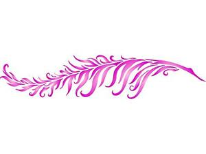 Details About Feather Stencil Reusable Wall Painting Template Fabric Furniture Decor Gl