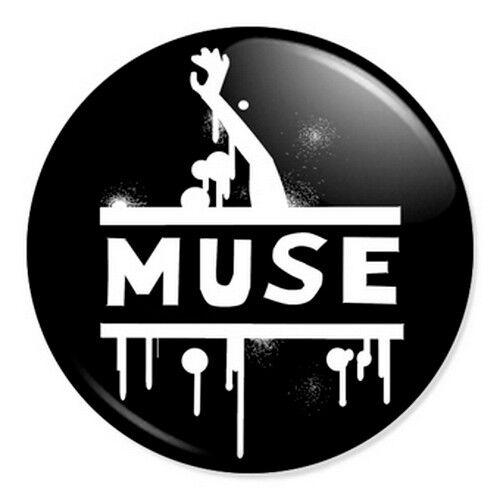 "Muse Logo Artwork 25mm 1/"" Pin Badge Button Alternative Rock Band Bellamy"