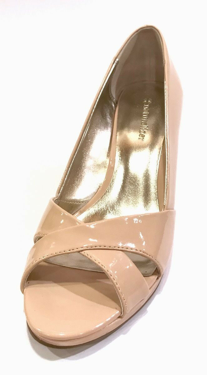 Naturalizer M Object Women's Size 7 M Naturalizer Open Toe Blush Heel Pump 18fdcb