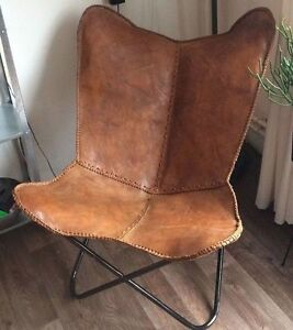 Charmant Image Is Loading BKF BEAUTIFUL BUTTERFLY LEATHER CHAIR MODERN SEAT FURNITURE