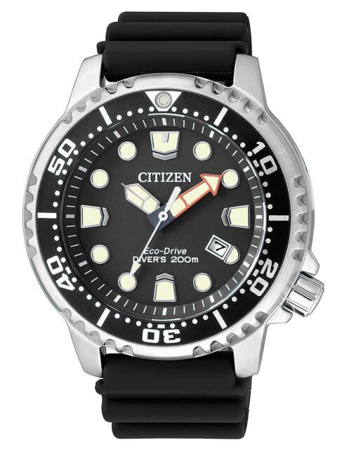 Citizen Eco-Drive Promaster Sea Mens 200m Dive Watch. ISO 6425 Cert BN0150-10E