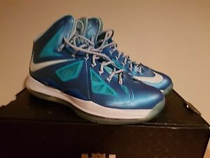 1d34d1b80a1c Image is loading NIKE-LEBRON-10-034-BLUE-DIAMOND-034-UK11