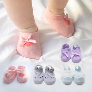 Newborn Baby Boy Girl Cotton Warm Socks Toddler Anti Slip Floor Socks Pairs