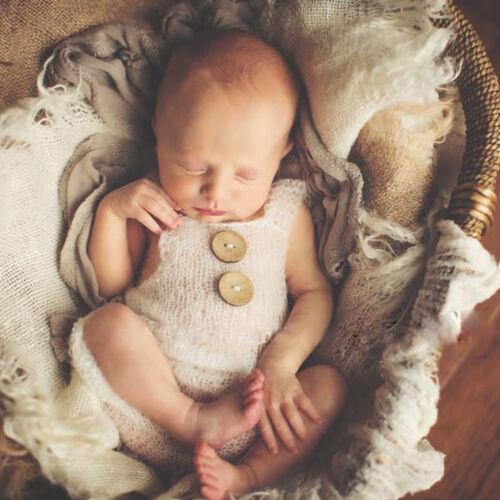 EG/_Neugeborenes Baby Mädchen Junge Häkelarbeit Strampler Foto Fotografie Stüt