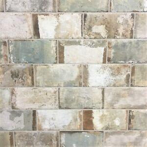 Details About Oxid Brick 4x8 Antique Porcelain Tile Wall Floor Backsplash Kitchen One Piece