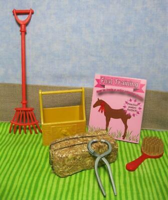 Barbie Toy Yellow Horse Brush Curry Comb