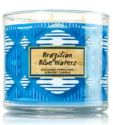Bath & Body Works Brazilian Blue Waters 14.5 Ounces Scented Candle Retail $22.50