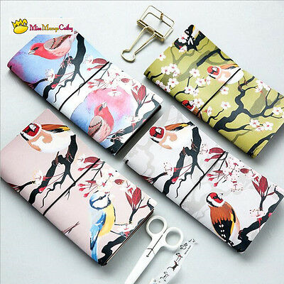 """Bird World"" 1pc Planner Scheduler Agenda Faux Leather Journal Notebook Diary"