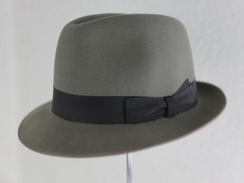 Classic Vintage JUNIOR BORSALINO Linea Vanzina Fur Felt Fedora Grey