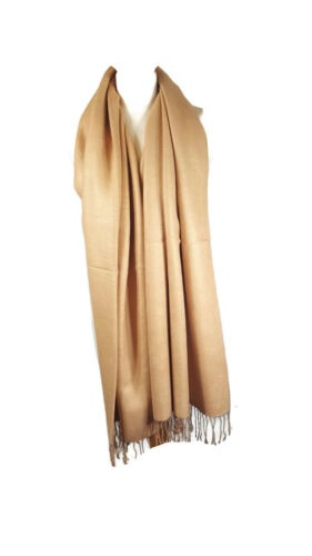 Luxury Women/'s Cashmere Feel Shawl Scarf Wrap Blanket Pashmina Style-Camel