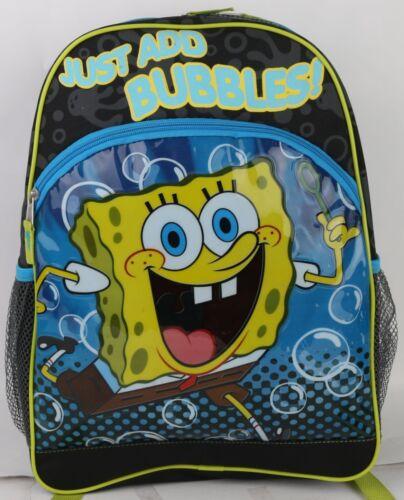 """Spongebob Squarepants /""""Just Add Bubble/""""  16/'/' Backpack"""