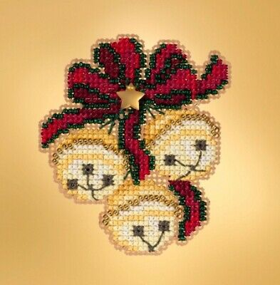 Jingle Bell Trio 10/% Off Mill Hill Winter Holiday Counted X-stitch//Bead Kit
