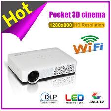 5000LX 1080p mini portátil 3D Wifi DLP proyector Home Theater RJ45 USB HDMI VGA