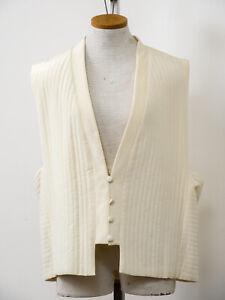 Women-039-s-Vest-Diane-Von-Furstenberg-M-Quilted-Silk-Cream-Color-Lined